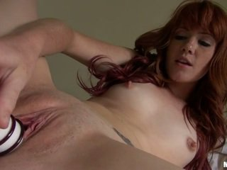 Ginger Elle Alexandra Sticking Toys In Her Pussy