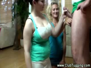 These teens are curious about his hard on and want to touch him