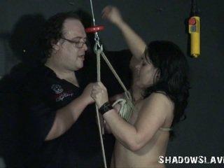 Two learner slavegirls explicite aiguille torture et breast lié de andrea whilst blonde ange est pierced