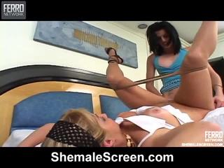 Genial shemale bildschirm vid mit erstaunlich porno sterne tony