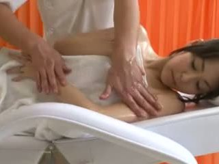 Oil massage for two busty Asian sluts goes well