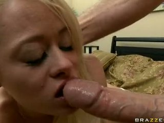 Smutty ReBecca Blue Sucks Off A Lucky Man's Nob Like Cum Coated Lollipop
