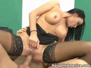 brunette, hardcore sex, lick