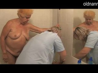 Granny 86yo is prepared to fucking of mature woman Video