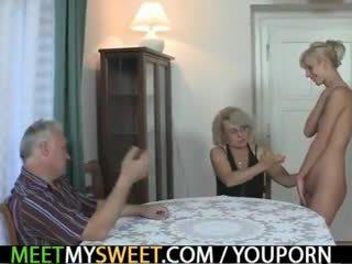 old, euro, 3some, grandma