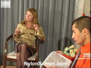 najlepsze pończochy seks, nylon slips and sex, wszystko sex and nylon stockings ty