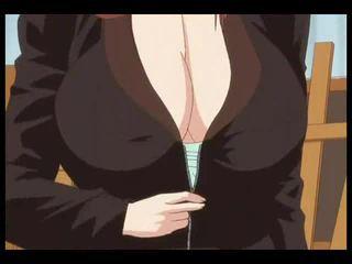 κοκκινομάλλης, μεγάλα βυζιά, anime / cartoon