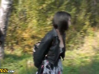 Lina Sucking Cocks In A Park For Money