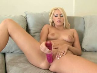 Vanessa Cage Concupiscent Blond Dildo Fuck Her Wet Clit