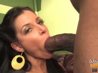 InDia Summers Brunette Throat Cleaning A Hunk Black Guy
