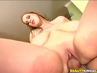 Bouncing Babe Terry Nova Works Her Constricted Cum Hole Up And Down Strong Cock