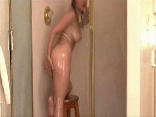 babe, big tits, shower