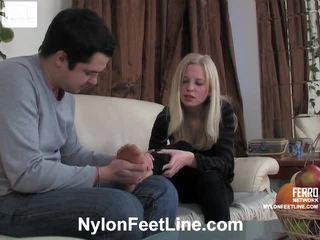 Paulina ir adam prisegamos kojinės footfuck filmas