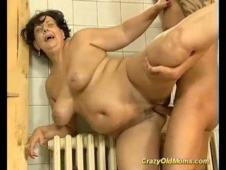 Brunette hot old mom fucked