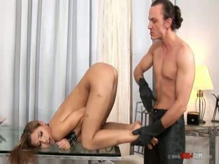 Satin Bloom Tied And Spanked