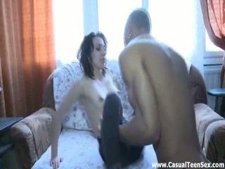 real brunette, you hardcore sex, blow job