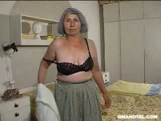 old, older, granny, strip