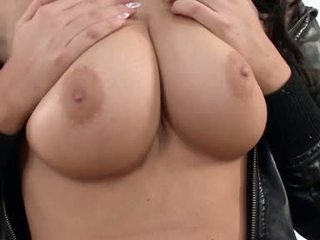 Angel Kiss Hot Babe Caressing Her Big Boobs