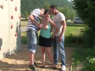 Risky جمهور جنس مجموعة من ثلاثة أشخاص مرعب