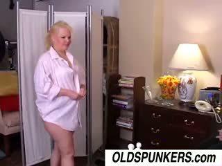 Sexy Old Spunker Sunshine Gets Spit Roasted