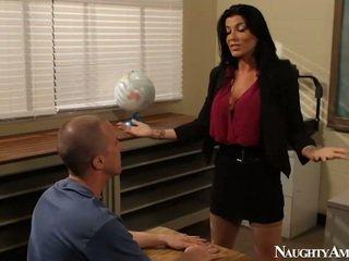 Голям titted instructor romi дъжд having чукане onto еротичен america