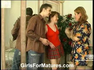 Elisabeth ninette mom in lesbian action