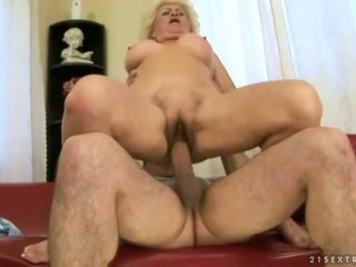 Busty grandma enjoying nasty sex