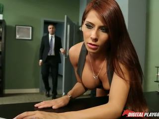 any big tits hq, redheads, office