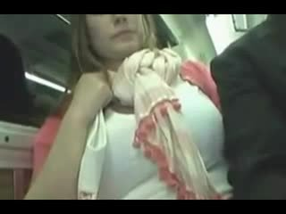 Gets horny and having sex on a public bus Video
