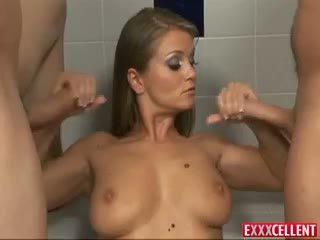 Rita Faltoyano Makes Two Rock Hard Dicks Cum