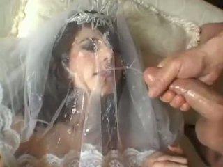 Het bruden jackie ashe takes en största och rörig facial cumsplash