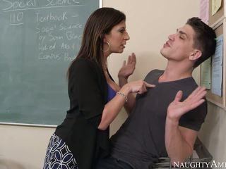 MILF teacher fucks his student for his bad grades