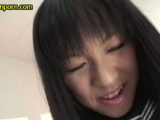 Asian japanese schoolgirl in lingerie mak ...