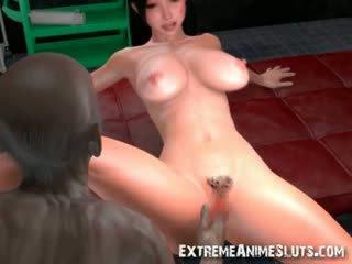 3d zombi cums di dalam seksi babe!