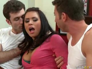 Eva Angelina Gets Dped By Jordan Ash And James Deen