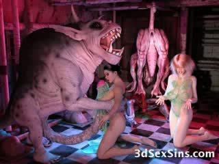 3d cartoon hentaï cartoon bizarre tentacule monstre fétichisme extrême ogre géant cartoon personnages manga malade elf alien foutre moche