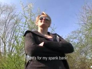 Czech girl Meggie sex in public for cash