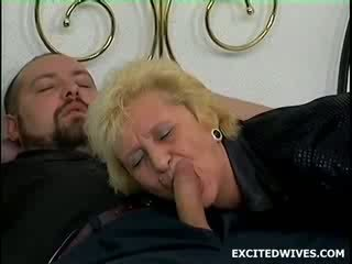 So this guy was sleeping at his Mother in law when he felt like jerking off. Ofcourse she comes in during the act and st