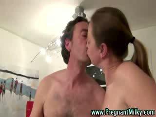 Pregnant fetish bitch shares bj