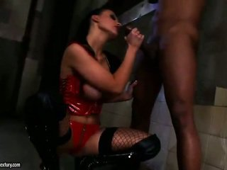 Aletta Ocean In Latex Outfit Gets Her Ass Rammed