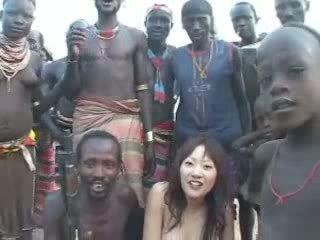 qualquer japonês quente, menina tudo, mais quente africano