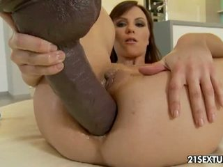 brunette, big dick, assfucking