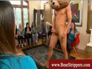 Bachelorettes ได้รับ seduced โดย a การเต้น หมี