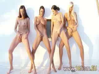 sie mädchen heißesten, lesbo, groß 3some qualität