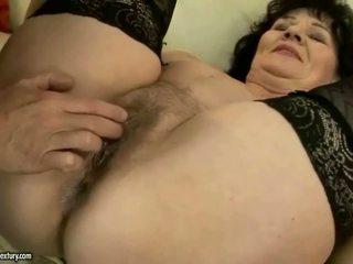 Fat grandma in stockings getting fucked