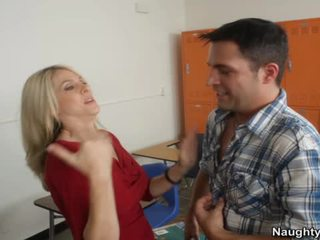 Hot Teacher AnGEla Attison Teaches Hot To Fuck A WoMan