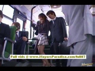 Nao yoshizaki sexy asijské dospívající na the autobus