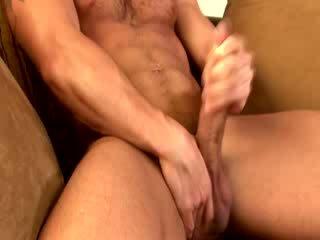 Γκέι muscle hunk καβλί tugging