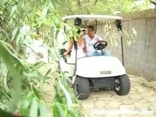 Screwed Onto A Golf Cart