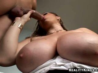 April mckenzie jacks off jago between her huge natural susu
